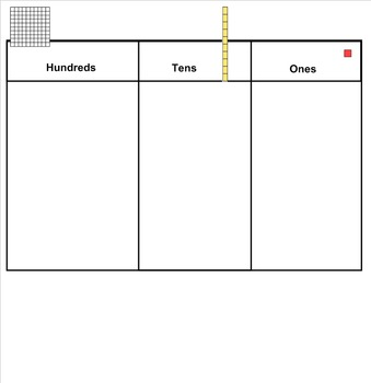 Hundreds, Tens and Ones Notebook for Smartboard