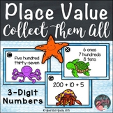 Hundreds Tens and Ones Ocean Numbers Place Value Task Card