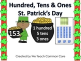 Hundreds, Tens, and Ones St. Patricks Day Math Station Activity
