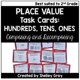 Hundreds, Tens, and Ones to 1000 - Place Value Task Cards
