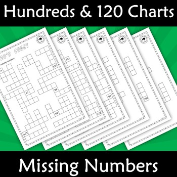 Hundreds and 120's Number Charts - Missing Numbers