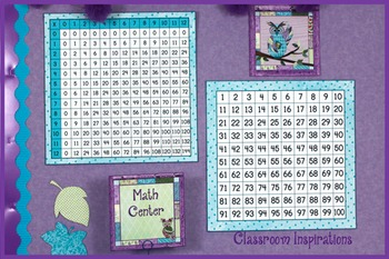 Hundreds and Multiplication Charts – Coordinates with Book Smart Owls Theme