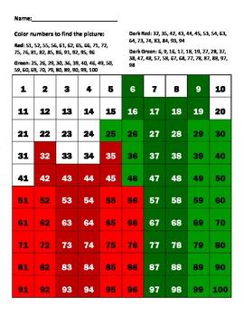 """Hundreds chart """"Christmas Presents"""""""
