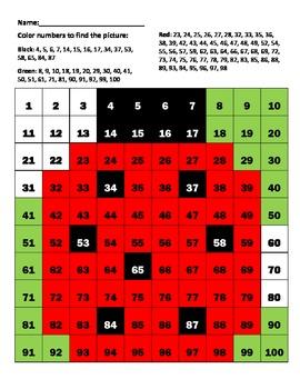 """Hundreds chart """"Ladybug"""""""