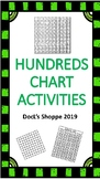 Hundreds chart activities (1-100) (Print and go)