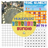 Free Hundred's Chart bundle   Counting   Numbers   Patterns   Math   Display