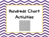 Hundreds chart cards