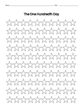 Hundredth Day 100th Day Stars for Patterns or Creating a Fun Hundreds Chart