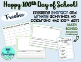 Hundredth Day Literacy, Writing, and Math Pack