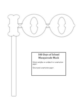 Hundredth Day of School Student Booklet just print and use!!!!
