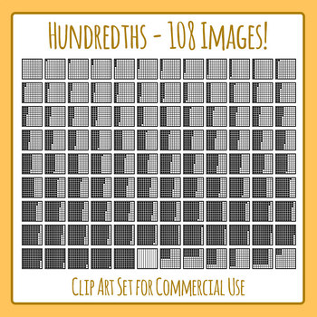 Hundredths - Fractions or Place Value - 108 Images!  Clip Art Commercial Use