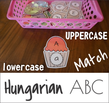 Hungarian ABC Upper Lower Case Match