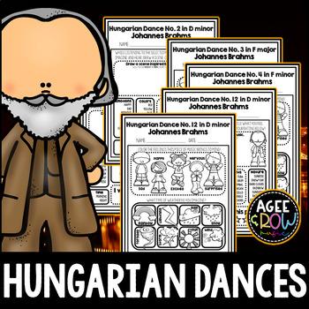 Hungarian Dances, Joannes Brahms, Germany, Romantic, Listening Sheets