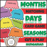 Hungarian Ice Cream Days Months and Seasons Match