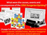 Hungarian Revolution - 13-page full lesson (starter, notes, card sort, plenary)