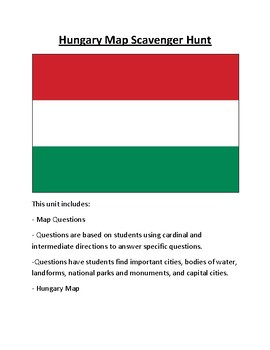 Hungary Map Scavenger Hunt