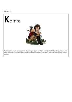 Hunger Games Activity Project (ABC Book) - PDF