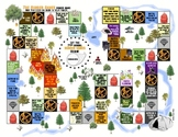 """""""Hunger Games"""" Arena Map Board Game Review Activity Project"""