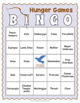 Hunger Games Bingo Game