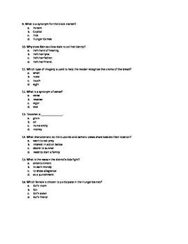 Hunger Games Bk 1 mc tests