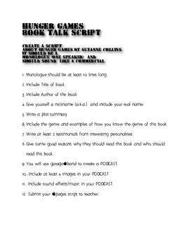 Hunger Games Book Talk Advertisement
