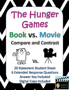 the hunger games book vs movie