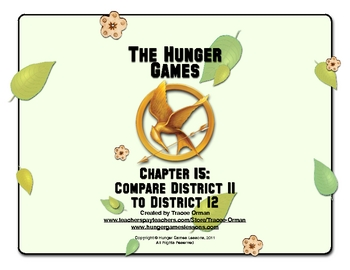 Hunger games chapter 15 comparison activity by tracee orman tpt hunger games chapter 15 comparison activity ccuart Gallery