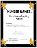 Hunger Games Coordinate Graphing Activity Single and Four Quadrant Graph