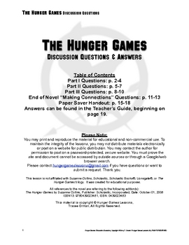 Hunger Games Discussion Questions & Answers