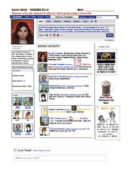 Hunger Games Facebook Profile Status Updates Character Ske