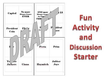 Hunger Games Flashcard Activity