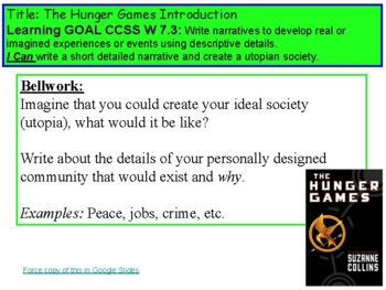 "Hunger Games Guided Reading Pwpt - CCSS Alligned with ""I C"