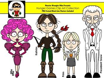 Hunger Games Inspired Clip Art Set