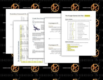 Hunger Games Lesson Plans - Unit Plan for Teaching The Hunger Games