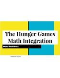 Hunger Games Math Integration - Word Problems - Number System Review
