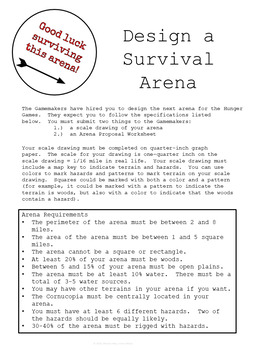 Design an Arena Math Scale Drawing Project