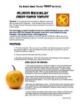 Free Hunger Games Mockingjay Halloween Pumpkin Template Word Search