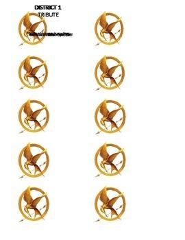 Hunger Games Name Badges