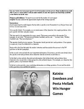 Hunger Games News Report Assignment