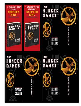 Hunger Games Novel Bookmarks Chapters Characters Katniss Peeta
