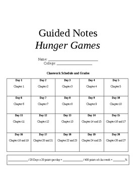 Hunger Games Novel Study Questions and Analysis