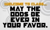 Hunger Games Posters for Classroom or Library