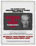 Free Hunger Games President Snow Censorship Bookmarks #weholdthesetruths