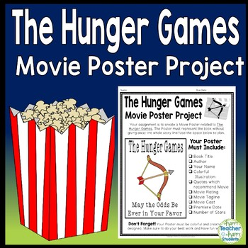 Hunger Games Project Create A Movie Poster Hunger Games Book Report Activity