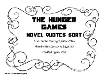 Hunger Games Quote Sort