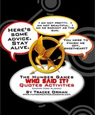 """""""Hunger Games"""" Quotes: Activities & Trivia Game"""