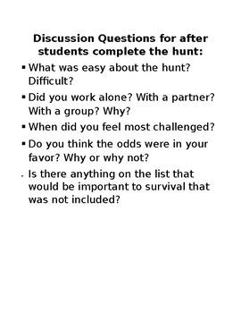 Hunger Games Scavenger Hunt
