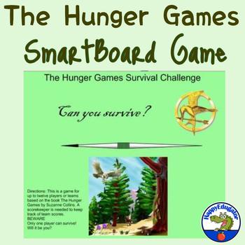 Hunger Games Survival Challenge - SMARTBOARD GAME