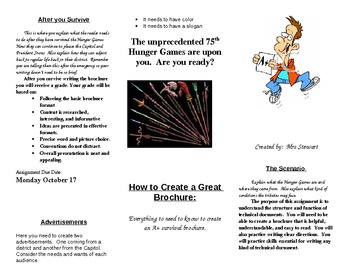 The Hunger Games Technical Writing Survival Brochure Final Project