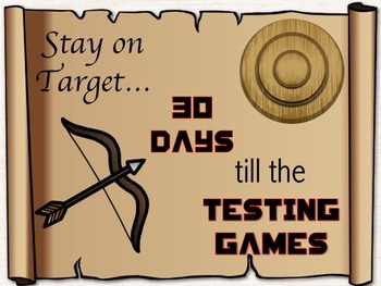 Hunger Games Testing Theme Countdown Sign *Editable*